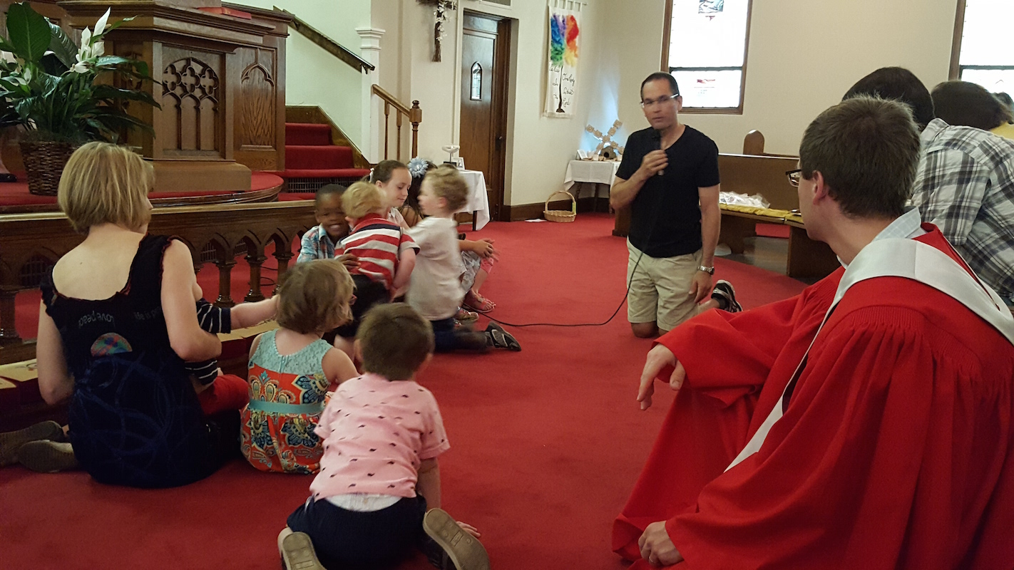 Community Discussions with children and adults in the church